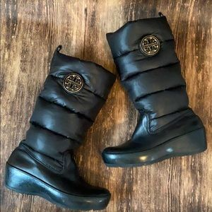 Tory Burch puffer snow boots size 7